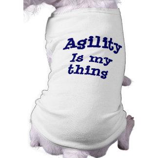De behendigheid is Mijn T-shirt van de Hond van he