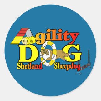 De Behendigheid van Sheltie van de Herdershond van Ronde Sticker