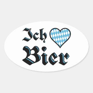 De Beierse Stickers van het Bier van de Liefde van