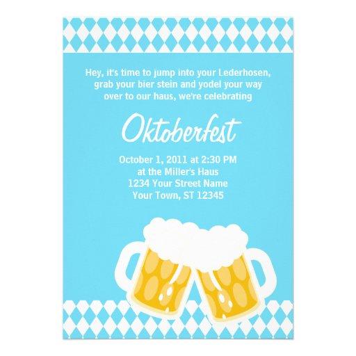 De Beierse Uitnodiging van Oktoberfest van de Sten