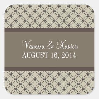 De beige Fancy Stickers van het Huwelijk van het