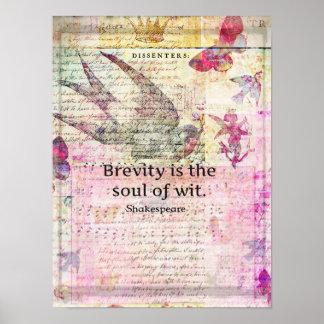 De beknoptheid is de ziel van het ART. van het ver Poster
