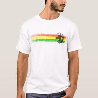 De Bekroonde Leeuw van Rasta Reggae T Shirt