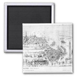De belegering van Boulogne door Koning Henry VIII Magneet