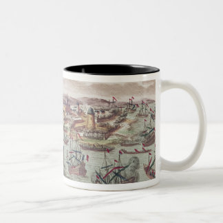 De belegering van Malta, 12 Juni 1798 Tweekleurige Koffiemok