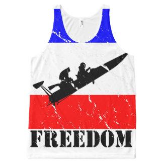 De belemmering-Boot van de vrijheid Alle All-Over-Print Tank Top