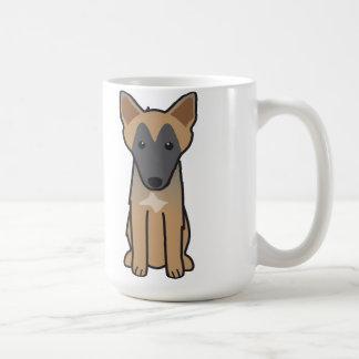 De Belgische Cartoon van de Hond Malinois Koffiemok