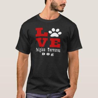De Belgische Tervuren Hond van de liefde Designes T Shirt
