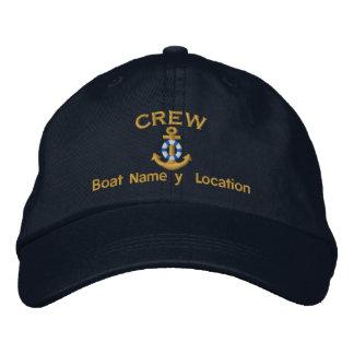 De Bemanning van de boot Uw Boot noemt Uw Naam Geborduurde Pet