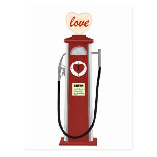 De Benzinepomp van de liefde Briefkaart