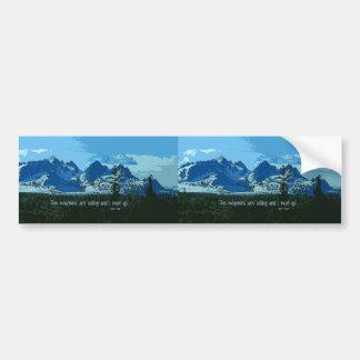 De berg bereikt digitale kunst een hoogtepunt - bumpersticker