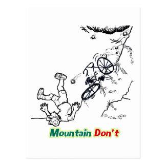 De berg niet briefkaart