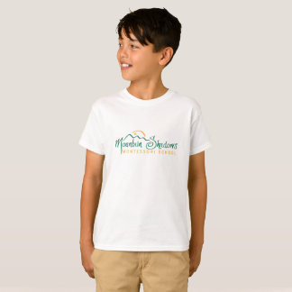 De berg stelt Kinder Kort Sleeved T-shirt in de