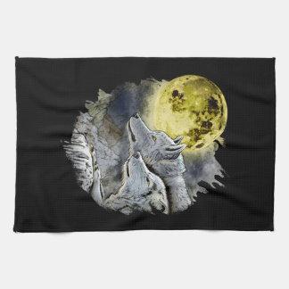 De Berg van de Maan van de Wolf van de fantasie Theedoek