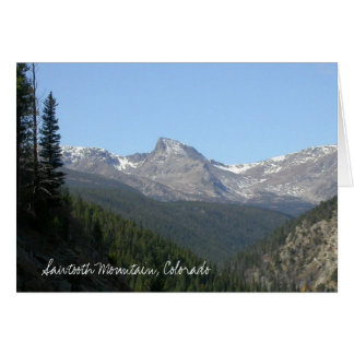 De Berg van de zaagtand, Colorado Wenskaart