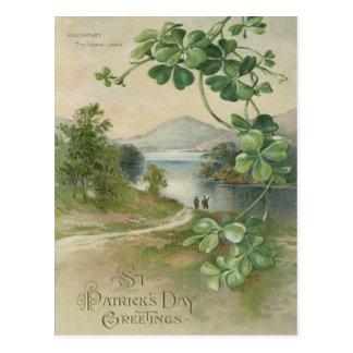 De Berg van Killarney van de Klaver van vier Blad Briefkaart