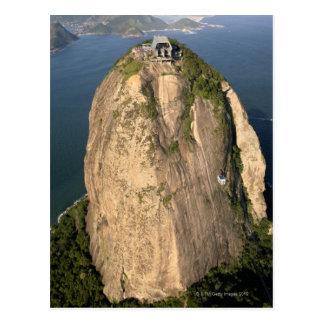 De Berg van Sugarloaf, Rio de Janeiro, Brazilië Briefkaart
