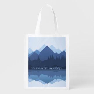 De bergen roepen… het Opnieuw te gebruiken Bolsa Boodschappentas