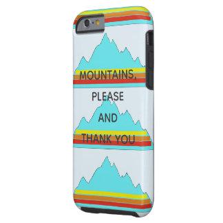 De bergen tevreden en danken u telefoneren hoesje
