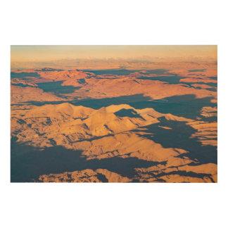 De Bergen van de Andes verlaten de LuchtScène van Hout Afdruk