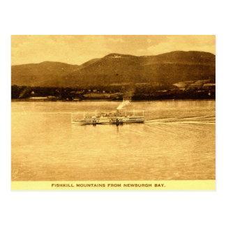 De Bergen van Fishkill, Newburgh Baai, New York Briefkaart