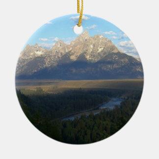 De Bergen van het Gat van Jackson (het Nationale Rond Keramisch Ornament
