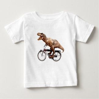 De berijdende fiets van Trex Baby T Shirts