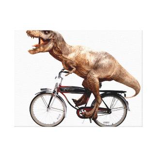 De berijdende fiets van Trex Canvas Afdruk