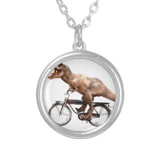 De berijdende fiets van Trex Zilver Vergulden Ketting