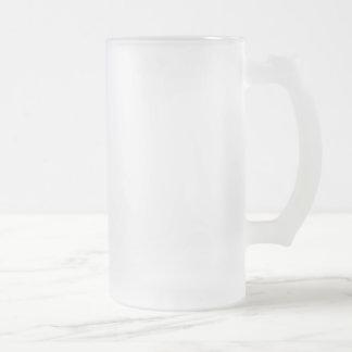 De berijpte 16 oz Berijpte Stenen bierkroes van Matglas Bierpul
