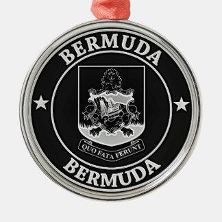 De Bermudas om Embleem Zilverkleurig Rond Ornament