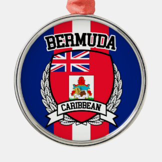 De Bermudas Zilverkleurig Rond Ornament