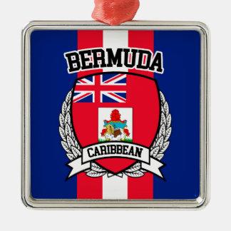 De Bermudas Zilverkleurig Vierkant Ornament