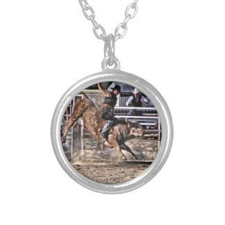 De Beroeps van de Rodeo van de Ruiter van de stier Zilver Vergulden Ketting