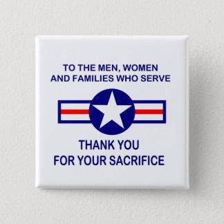 De bescheiden Knoop van de Dag van de Veteranen Vierkante Button 5,1 Cm