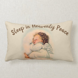 Sleep Angel Kussen.Kinderkamer Engel Decoratieve Kussens En Poefen Zazzle Nl