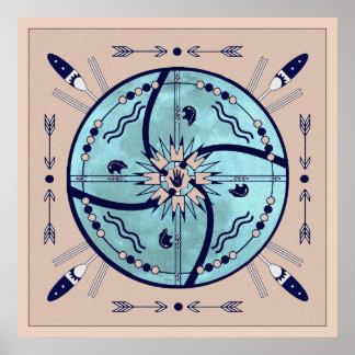 De beschuttende Druk van het Poster van Mandala