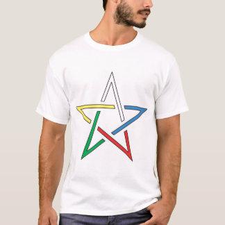 De Besnoeiing Pentagram van de kleur T Shirt