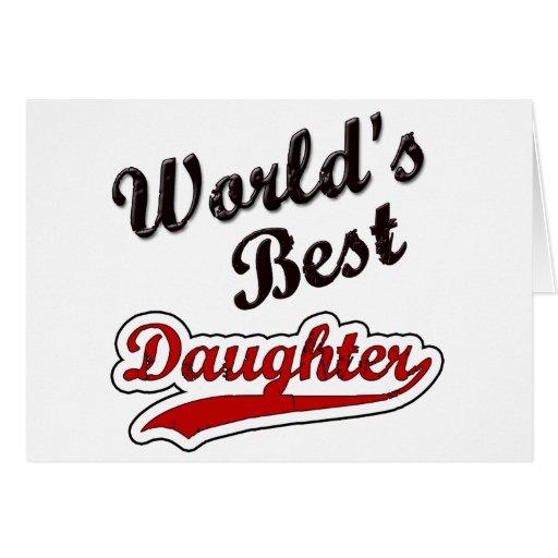 De beste dochter van de wereld wenskaart zazzle - De thuisbasis van de wereld chesterfield ...