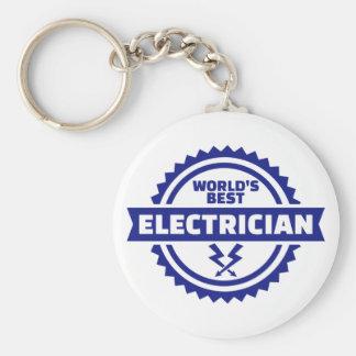 De beste elektricien van de wereld sleutelhanger