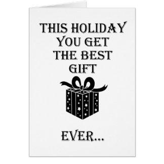 De beste Gift van de Vakantie Briefkaarten 0