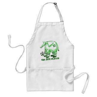 de beste groene cartoon van de voetballerolifant standaard schort