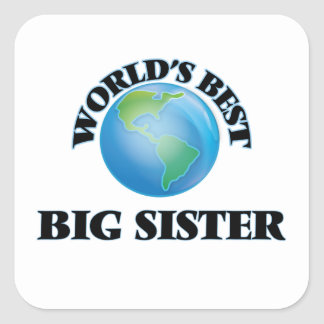 De Beste Grote Zuster van de wereld Vierkante Stickers