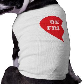 De beste Honden van de Aanpassing van de Vriend Mouwloos Hondenshirt