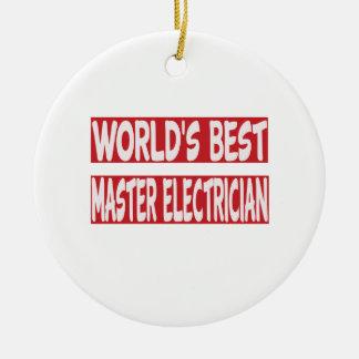 De Beste HoofdElektricien van de wereld Rond Keramisch Ornament