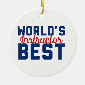 De Beste Instructeur van de wereld Rond Keramisch Ornament