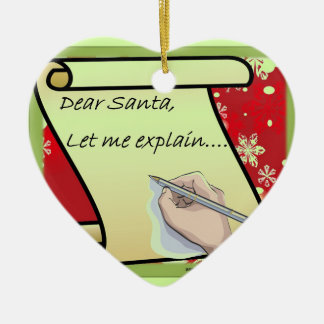 De beste Kerstman laat me verklaren Keramisch Hart Ornament