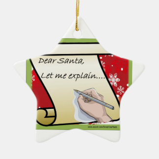 De beste Kerstman laat me verklaren Keramisch Ster Ornament