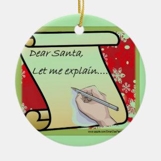 De beste Kerstman laat me verklaren Rond Keramisch Ornament