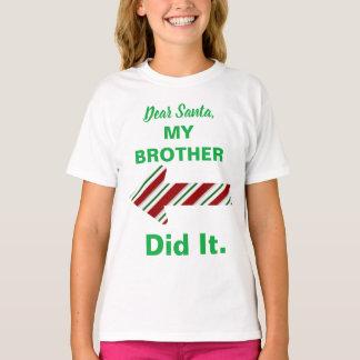 De beste Kerstman Mijn Broer deed het Overhemd T Shirt